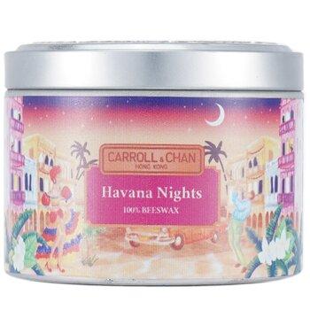 100% Beeswax Tin Candle - Havana Nights  (8x6) cm