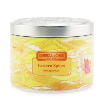 100% Beeswax Tin Candle - Eastern Spices  (8x6) cm