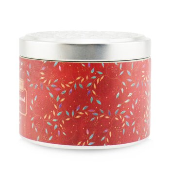 100% Beeswax Tin Candle - Indian Sandalwood  (8x6) cm