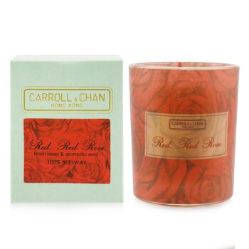 100% Beeswax Votive Candle - Red Red Rose  65g/2.3oz