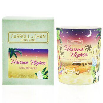 100% Beeswax Votive Candle - Havana Nights  65g/2.3oz