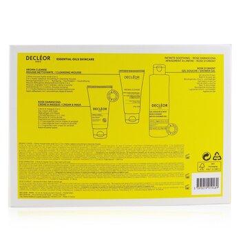 Infinite Soothing Rose Damascena Skincare Set: Aroma Cleanse Cleansing Mousse+ Day Cream & Mask+ Bath & Shower Gel  3pcs