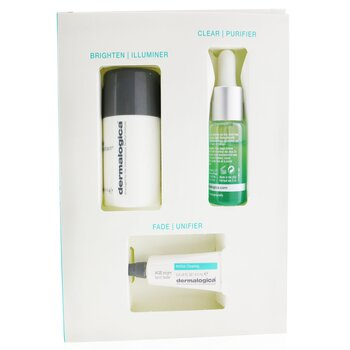 Clear & Brighten Kit: Daily Microfoliant 13g+ Age Bright Clearing Serum 10ml+ Age Bright Spot Fader 6ml  3pcs