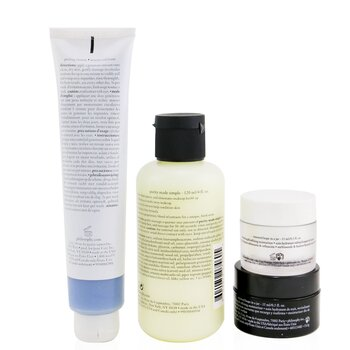 Renewed & Grateful 4-Pieces Gift Set: One-Step Facial Cleanser 120ml + Peeling Mousse 75ml + Overnight Moisturizer 15ml + Moisturizer 15ml  4pcs