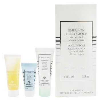Ecological Compound 4-Pieces Set: Ecological Compound 125ml + Buff & Wash Face Gel + Hydra-Global Serum 5ml + Hydra-Global 10ml  4pcs
