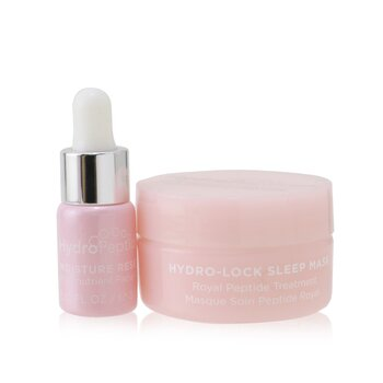 Dew You Mega Minis Kit: Moisture Reset Phytonutrient Facial Oil 0.1 oz + Hydro-Lock Sleep Mask 0.5oz  2pcs