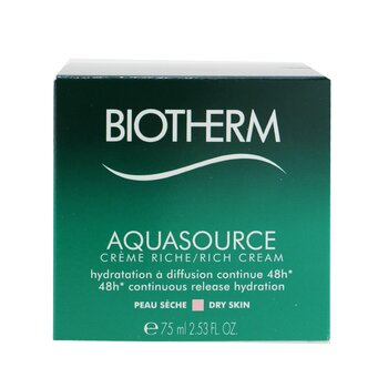 Aquasource 48H Continuous Release Hydration Rich Cream - For Dry Skin  75ml/2.53oz