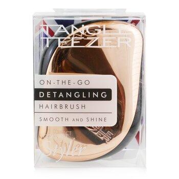Compact Styler On-The-Go Detangling Hair Brush - # Rose Gold Black  1pc