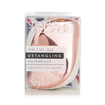 Compact Styler On-The-Go Detangling Hair Brush - # Ivory Rose Gold  1pc