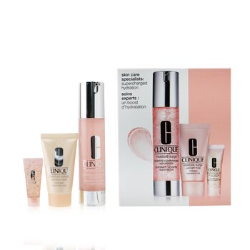 Skincare Specialists Supercharged Hydration Set: Moisture Surge Concentrate 48ml+ Overnight Mask 30ml+ Eye 96-Hr 5ml  3pcs