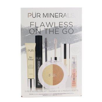 Flawless On The Go 5 Piece Bestsellers Kit (1x Mini Primer, 1x Mascara, 1x Mineral Glow, 1x Mini Lip Oil, 1x Mini Mist)  5pcs