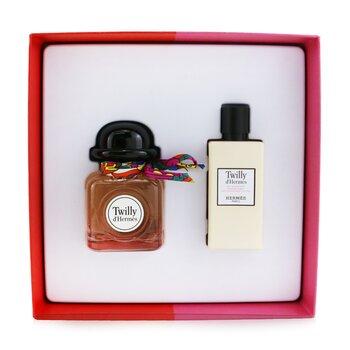Twilly D'Hermes Coffret: Eau De Parfum Spray 85ml/2.87oz + Loción Corporal Hidratante 80ml/2.7oz  2pcs