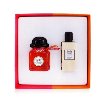 Twilly D'Hermes Eau Poivree Coffret: Eau De Parfum Spray 85ml/2.87oz + Moisturizing Body Lotion 80ml/2.7oz  2pcs