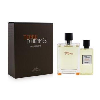 Terre D'Hermes Coffret: Eau De Toilette Spray 100ml/3.3oz + Hair And Body Shower Gel 80ml/2.7oz 2pcs