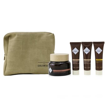 The Potion Of Radiance Set With Pouch: 1x Hydra Brightening - Long Lasting Moisture Cream SPF 15 - 50ml/1.7oz + 1x Hydra Brightening - Perfecting Light Emulsion SPF 15 - 10ml/0.3oz + 1x Hydra Brightening - Pure Radiance Rich Cleansing Milk - 10ml/0.3oz + 1x Age Recover - Replumping Rich Mask ...  4pcs+1bag