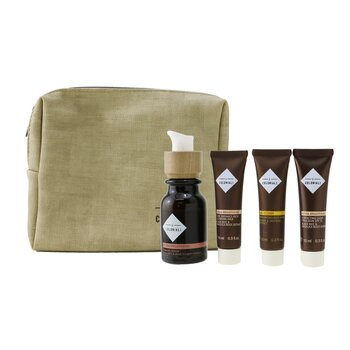 The Potion Of Perfection Set With Pouch: 1x Hydra Brightening - Firming Serum - 30ml/1oz + 1x Hydra Brightening Pure Radiance Rich Cleansing Milk - 10ml/0.3oz + 1x Hydra Brightening Perfecting Light Emulsion SPF 15 - 10ml/0.3oz + 1x Age Recover - Replumping Rich Mask - 10ml/0.3oz + 1x bag  4pcs+1bag