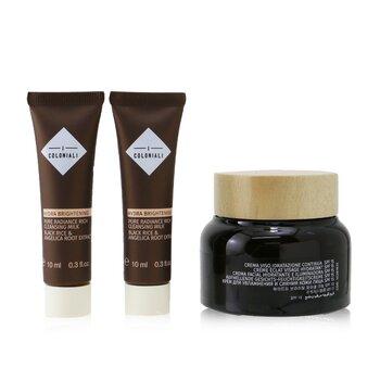 Empowered Beauty Remedies Travel Set With Bag: 1x Hydra Brightening - Long Lasting Moisture Cream SPF 15 - 50ml/1.7oz + 2x Hydra Brightening - Pure Radiance Rich Cleansing Milk - 10ml/0.3oz + 1x bag  3pcs+1bag