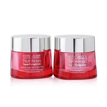 Nutritious Super-Pomegranate Day & Night Radiance Set: Moisture Creme 50ml+ Night Creme/Mask 50ml  2pcs