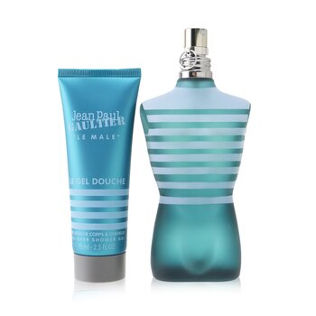 Le Male Coffret: Eau De Toilette Spray 125ml/4.2oz + All-Over Shower Gel 75ml/2.5oz (Round Tin Box)  2pcs