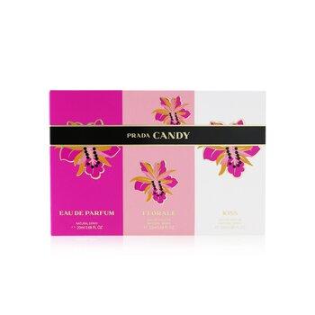 Candy Coffret: Candy Eau De Parfum Spray, Candy Kiss Eau De Parfum Spray, Candy Florale Eau De Toilette Spray  3x20ml/0.68oz