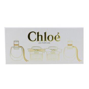 Miniature Coffret: 2x Nomade Eau De Parfum, Chloe Eau De Toilette, Chloe Eau De Parfum  4x5ml/0.17oz
