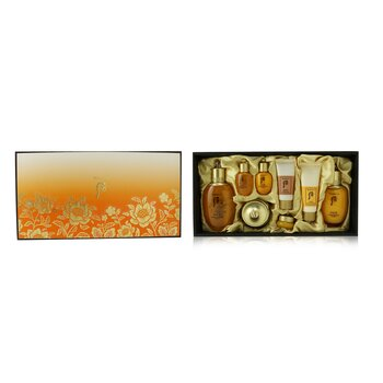 Gongjinhyang Essential Set: Balancer (150ml+20ml) + Emulsion (110ml + 20ml ) + Cream 30ml + Eye Cream 4ml + Cleanser 40ml + Mask 30ml  8pcs