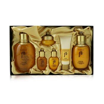 Gongjinhyang Essential Set: Balancer (150ml+20ml) + Emulsion (110ml+20ml) + Cream 10ml + Cleanser 40ml  6pcs