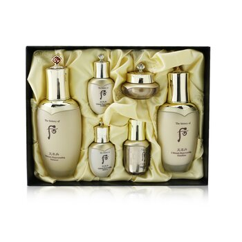 Cheonyuldan Ultimate Rejuvenating Set: Balancer (150ml+25ml) + Emulsion (110ml+25ml) + Essence 8ml + Cream 10ml  6pcs