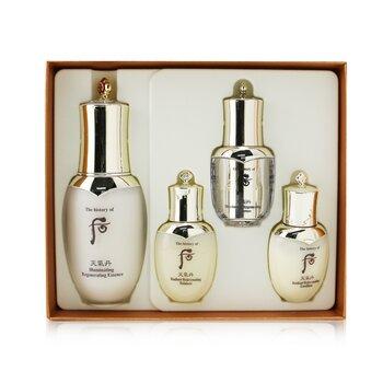Cheongidan Iilluminating Regenerating Essence Special Set: Essence 50ml +  Balancer 25ml + Emulsion 25ml + Eye Serum 8ml  4pcs