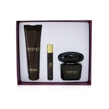 Crystal Noir Coffret: Eau De Toilette Spray 90ml/3oz + Body Lotion 150ml/5oz + EDT Travel Spray 10ml/0.3oz  3pcs