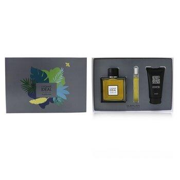 L'Homme Ideal Coffret: Eau De Toilette Spray 100ml/3.3oz + Eau De Toilette Spray 10ml/0.3oz + Shower Gel 75ml/2.5oz  3pcs