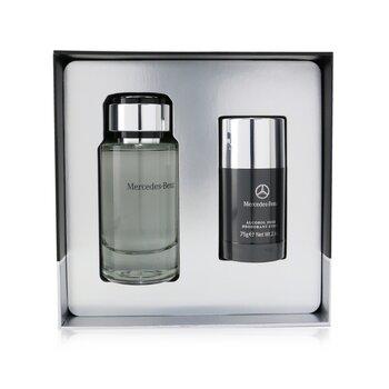 Mercedes-Benz Coffret: Eau De Toilette Spray 120ml/4.0oz + Deodorant Stick 75g/2.6oz  2pcs