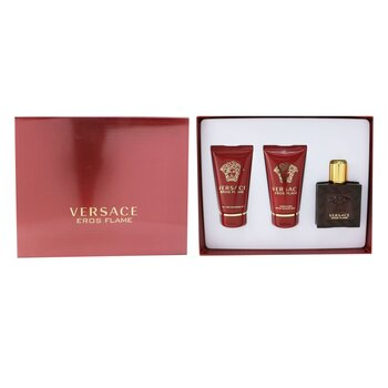 Eros Flame Coffret: Eau De Parfum Spray 50ml/1.7oz +Perfumed Shower Gel 50ml/1.7oz + After Shave Balm 50ml/1.7oz  3pcs