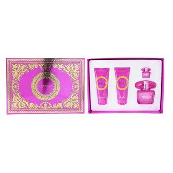 Bright Crystal Absolu Coffret: Eau De Parfum Spray 90ml + Body Lotion 100ml +Eau De Parfum 5ml + Shower Gel 100ml  4pcs