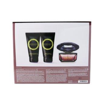 Crystal Noir Coffret: Eau De Toilette Spray 50ml/1.7oz + Bath & Shower Gel 50ml/1.7oz + Body Lotion 50ml/1.7oz  3pcs