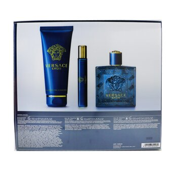 Eros Coffret: Eau De Toilette Spray 100ml/3.4oz + Eau De Toilette Spray 10ml/0.3oz + Shower Gel 150ml/5oz  3pcs