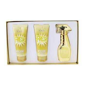 Gold Fresh Couture Coffret: Eau De Parfum Spray 50ml/1.7oz + The Freshest Body Lotion 100ml/3.4oz + The Freshest Bath & Shower Gel 100ml/3.4oz  3pcs