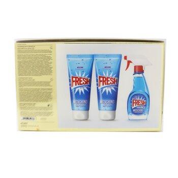 Fresh Couture Coffret: Eau De Toilette Spray 50ml/1.7oz + Body Lotion 100ml/3.4oz + Bath & Shower 100ml/3.4oz  3pcs