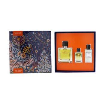 Terre D'Hermes Coffret: Pure Parfum Spray 75ml/2.5oz + Pure Parfum Spray 12.5ml/0.42oz + After-Shave Lotion 40ml/1.35oz  3pcs