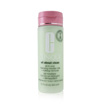 All about Clean All-In-One Cleansing Micellar Milk + Makeup Remover - Combination Oily to Oily  200ml/6.7oz