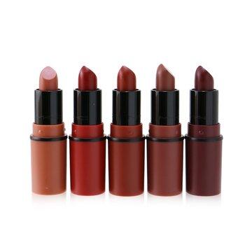 Travel Exclusive Mini Lipsticks Set (5x Mini Lipstick + 1 Bag)  5pcs+1Bag