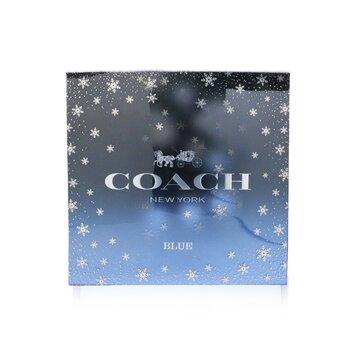 Blue Coffret: Eau De Toilette Spray 100ml/3.3oz + Eau De Toilette Spray 15ml/0.5oz + Shower Gel 100ml/3.3oz  3pcs