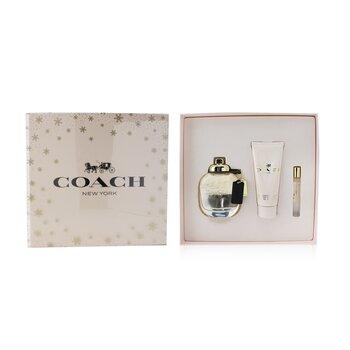 Coach Coffret: Eau de Parfum Spray 90ml/3oz + Body Lotion 100ml/3.3oz + Eau de Parfum 7.5ml/2.5oz  3pcs