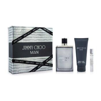 Jimmy Choo Coffret: Eau De Toilette Spray 100ml/3.4oz + Eau De Toilette Spray 7.5ml/0.25oz + After Shave Balm 100ml/3.3oz  3pcs