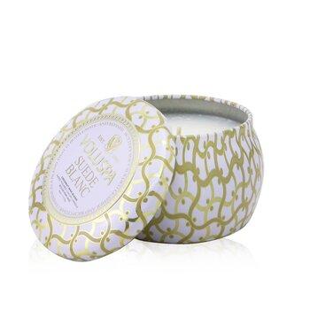 Mini Tin Candle - Suede Blanc  113g/4oz