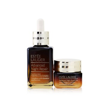Advanced Night Repair Set: Synchronized Multi-Recovery Complex 50ml+ Eye Supercharged Complex 15ml  2pcs