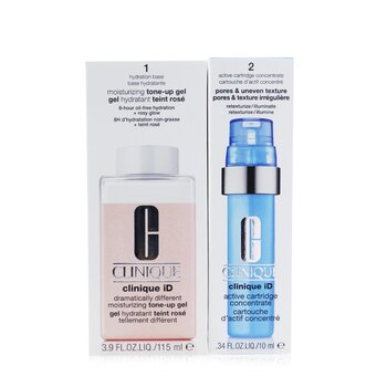 Clinique iD Dramatically Different Tone-Up Gel + Active Cartridge Concentrate For Pores & Uneven Texture  125ml/4.2oz