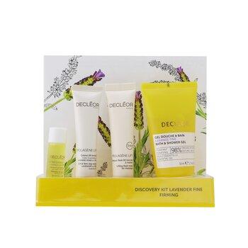 Kit Lavende Fine Firming Discovery: Aceite Suero 5ml + Crema de Día 15ml + Flash Mascarilla 15ml + Gel de Baño & Ducha 50ml  4pcs