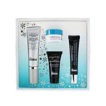 Festive & Flawless Kit: Pore Refiner Primer 30ml+ No More Baggage 15g+ Microdermabrasion 15g+ Hyaluronic Facial Cream 10g  4pcs