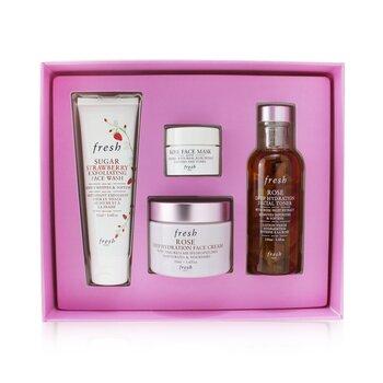 Rose Deep Hydration Skincare Set  4pcs